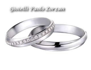 Coppia di Fedi Matrimoniali Polello in Oro Bianco e Diamanti Ref. 2546DBR 2546UBR  Fedi Nuziali