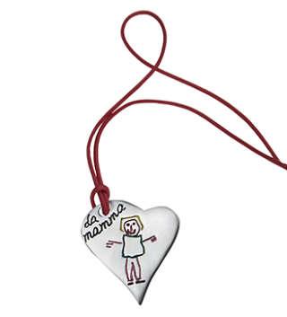 INK KIDS Ciondolo cuore in argento con il disegno dei tuoi bimbi. KCC     Gioielli Donna Collane Gioielli Uomo Collane