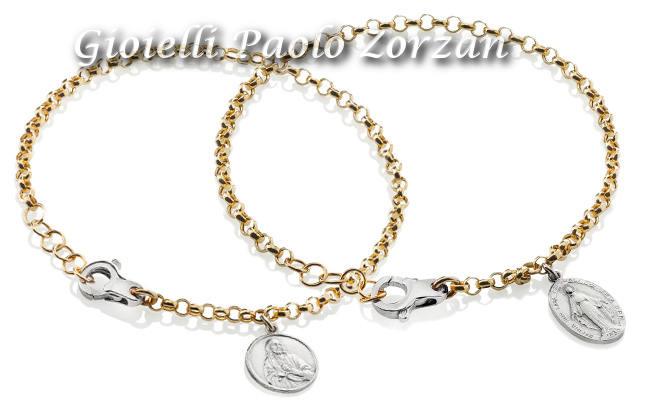 """Bracciale """" i sacri"""" Donna Oro in oro 18 kt e argento Ref. DSBF2186   Bracciali Gioielli Donna"""