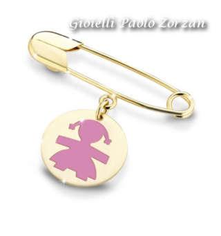 Spilla Le Bebè Femminuccia In Oro Giallo 9 Kt  Ref. Pmg010    Bambini Gioielli per bambini Spille
