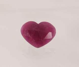 Corindone varietà rubino taglio a cuore Ct 2.83 Ref. CR012   Pietre preziose e Minerali Regalistica