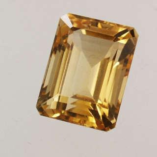 Quarzo CITRINO Ct. 15.78 taglio rettangolo. Pietra pura, per anello o pendente Ref. QC001   Pietre preziose e Minerali Regalistica