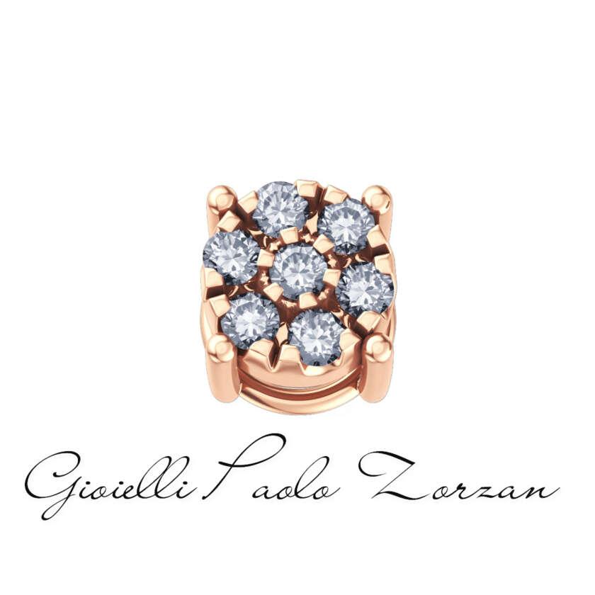 Elements Starlight  Griffe di Donna Oro in Oro Rosa e Diamanti Ref. DCHF4138.003    Elementi per Bracciali Gioielli Donna Pietre Preziose