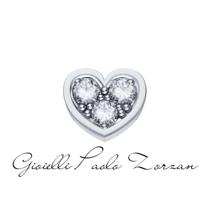 Donna Oro Elementa Cuore Piccolo In Oro Bianco e Diamanti Ref. DCHF3849.003      Elementi per Bracciali Elementi per Bracciali Gioielli Donna Gioielli Uomo Simboli