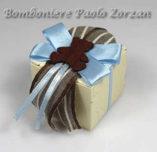 Bomboniera porta confetti scatolina con orsetto Ref. RT02C-0