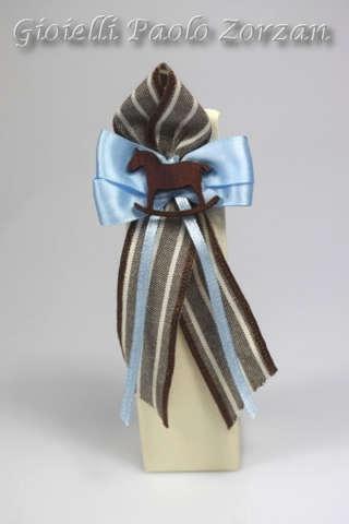 Bomboniera porta confetti scatolina con cavallo a dondolo Ref. RT05C-0