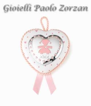 Medaglione Bimba Le Bebe' A Cuore Ref.  Lb208/06r     Battesimo Gioielli San Valentino Nascita bimba Regalistica