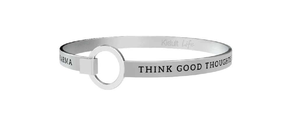 Bracciali kidult nuova collezione 2018 THINK GOOD THOUGHTS, SAY NICE.... ref. 731307-0