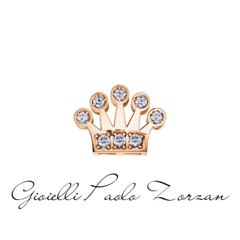 Elements Corona di Donna Oro in Oro Rosa e Diamanti Ref. DCHF6525.004      Elementi per Bracciali Elementi per Bracciali Gioielli Donna Gioielli Uomo Simboli