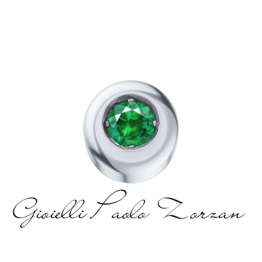 Elements Punto Griffe Donna Oro Nuove In Oro Bianco E Smeraldo Ref. Dche4130      Elementi per Bracciali Elementi per Bracciali Gioielli Donna Gioielli Uomo Pietre Preziose