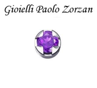 Elemento DONNA ORO GRIFFE TONDA ORO BIANCO E AMETISTA DCHY5503-0