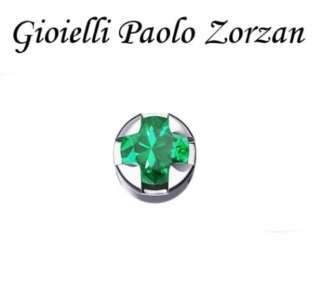 Elemento DONNA ORO GRIFFE TONDA ORO BIANCO E SMERALDO DCHE5502-0