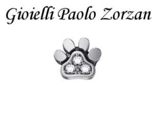 Elements donna oro zampetta cane in oro bianco 18 Kt e brillanti ref. DCHF7424-0