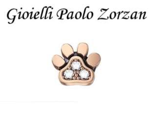Elements donna oro zampetta cane in oro rosa 18 Kt e brillanti ref. DCHF7425-0