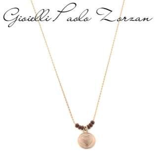 Collana piti mali' medaglia cuore in argento rosato e coralli   REF. 142/C-RAM   Collane Gioielli Donna