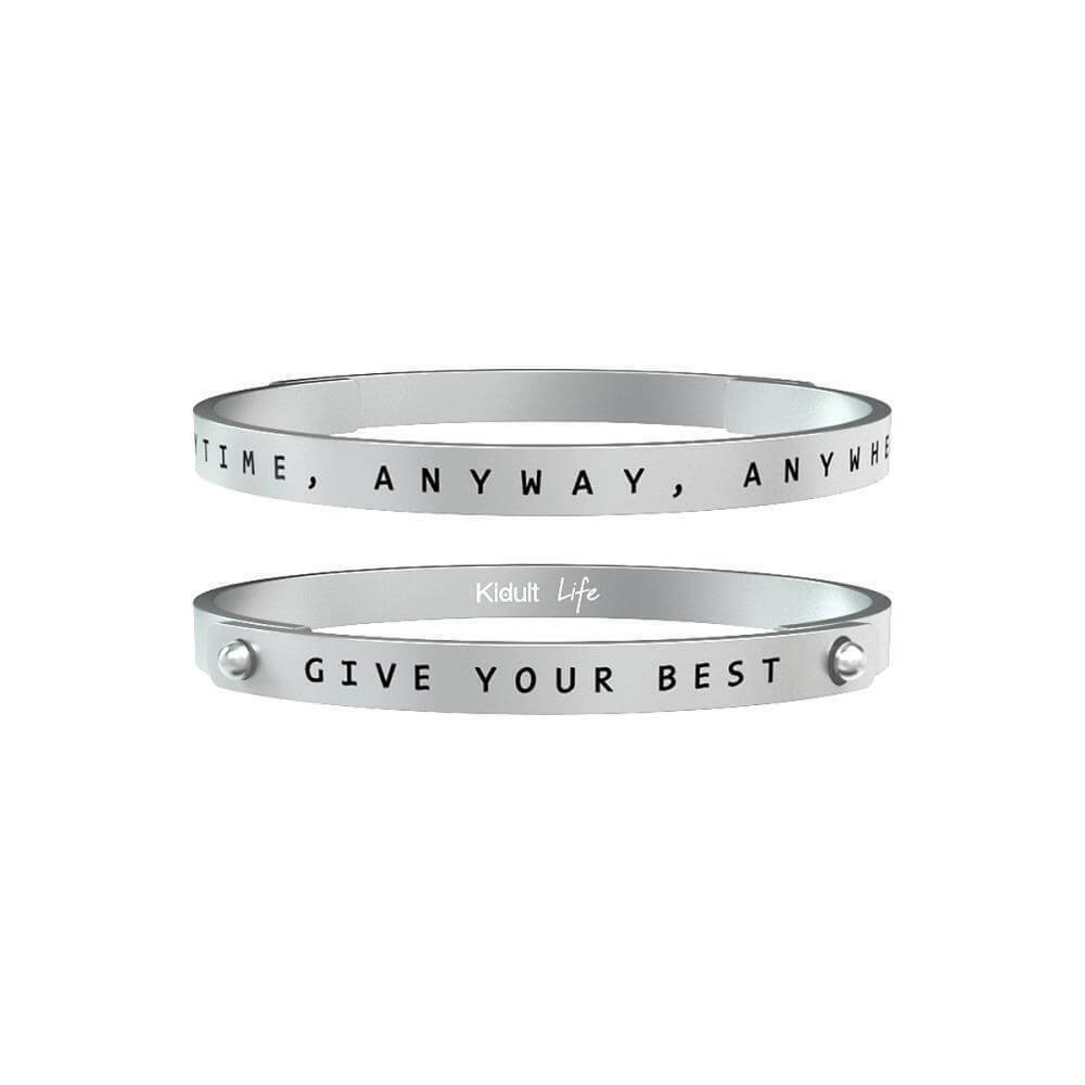 Bracciale Kidult Uomo – Give Your Best… – in Acciaio – 731171-0