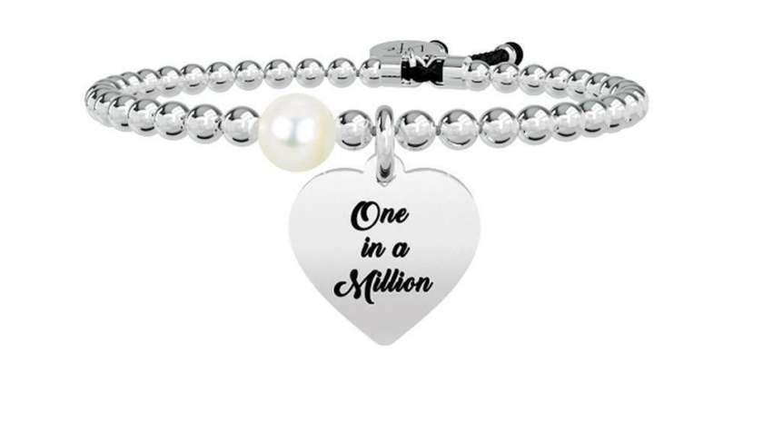 Bracciale Kidult Life Love – Cuore | One in a Million Acciaio e Perla – 731261   Bracciali Gioielli Donna