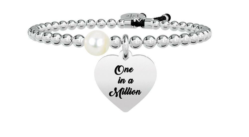 Bracciale Kidult Life Love – Cuore | One in a Million Acciaio e Perla – 731261-0