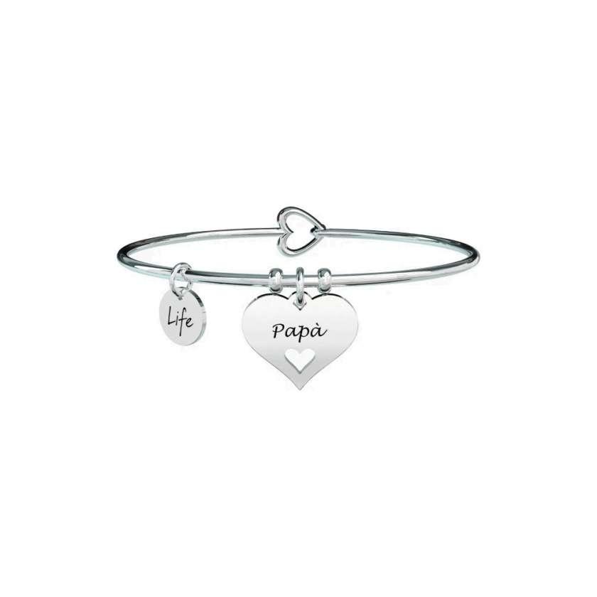 Bracciale Donna Kidult in Acciaio Cuore | Papà – Family – 731620     Bracciali Gioielli Donna Gioielli San Valentino Per Lei