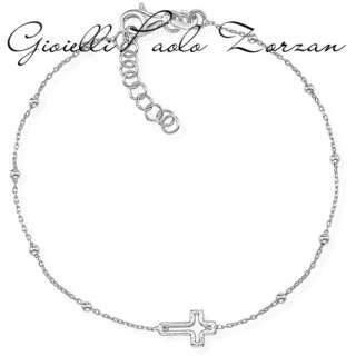 Bracciale Amen in Argento 925 Con Croce BRCRB3      Bracciali Bracciali a Maglia Gioielli Donna Gioielli San Valentino Per Lei
