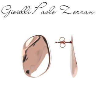Orecchini Bronzallure Lucidi Design a Onda in Golden Rose WSBZ01239R    Gioielli Donna Orecchini Orecchini Pendenti