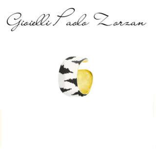 Earcuff Rue Ds Mille Fascia Grande Smalto Zebrato  EARJ-02-Z      Gioielli Donna Gioielli San Valentino Orecchini Orecchini a Lobo Per Lei