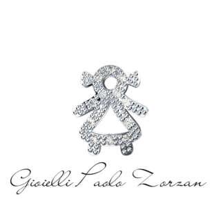 Elemento Bimba Big in Oro Bianco e Diamanti Elements di Donna Oro Ref. DCHF5066.007    Elementi per Bracciali Gioielli Donna Simboli