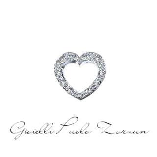 Elemento Cuore Big in Oro Bianco e Diamanti Elements di Donna Oro Ref. DCHF5069.004    Elementi per Bracciali Gioielli Donna Simboli