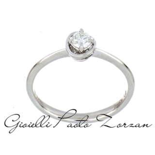 Anello Donna Oro Solitario Oro Bianco 18 Kt e Diamanti DKAS7990    Anelli Anelli Solitario Gioielli Donna