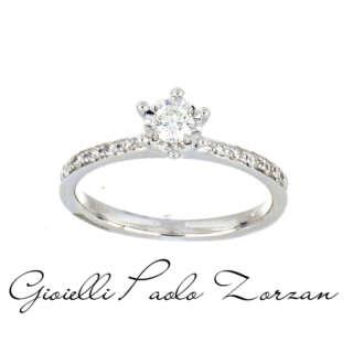 Anello Donna Oro Solitario Oro Bianco 18 Kt e Diamanti DKAC7837    Anelli Anelli Solitario Gioielli Donna