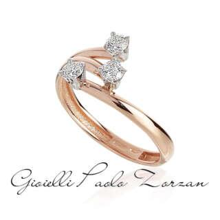 Anello Trilogy Artlinea Contrarie in Oro Rosa e Diamanti ct 0.30 mod. AD847/DB-LH    Anelli Anelli Trilogy Gioielli Donna