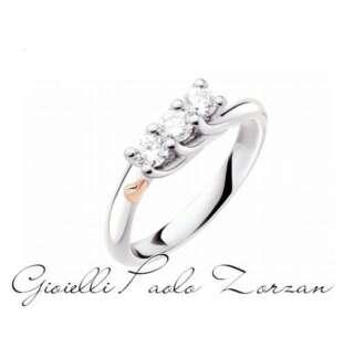 Anello Polello Trilogy in Platino e Diamanti G3142P2    Anelli Anelli Trilogy Gioielli Donna