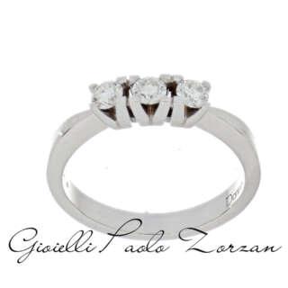Anello Trilogy Donna Oro in Oro Bianco e Diamanti DNOR3334    Anelli Anelli Trilogy Gioielli Donna
