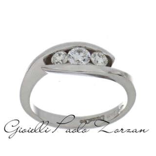 Anello Trilogy Donna Oro in Oro Bianco e Diamanti DNOR3331    Anelli Anelli Trilogy Gioielli Donna