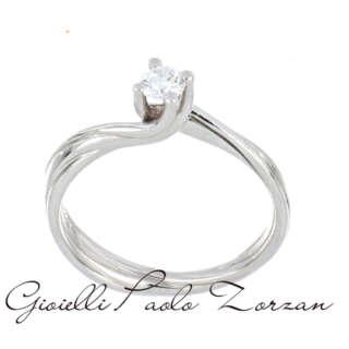 Anello Polello Solitario in Oro Bianco e Diamante G3035B1VS    Anelli Anelli Solitario Gioielli Donna