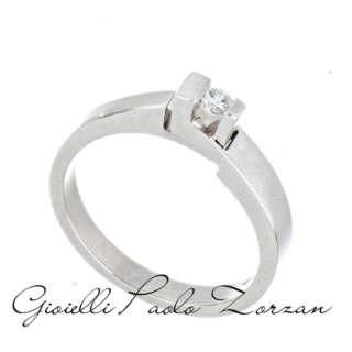 Anello Polello Solitario in Oro Bianco e Diamante G21122B    Anelli Anelli Solitario Gioielli Donna
