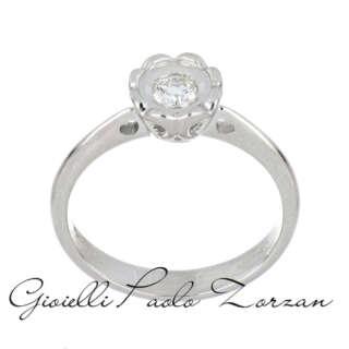 Anello Solitario Polello Oro Bianco e Diamanti G3140B1    Anelli Anelli Solitario Gioielli Donna