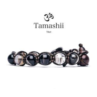 Bracciale Tamashii Agata Pizzo Nero  BHS900-100        Bracciali Bracciali Gioielli Donna Gioielli San Valentino Gioielli Uomo Per Lei Per Lui