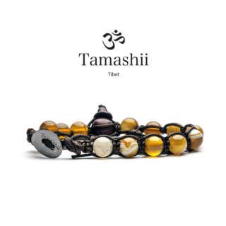 Bracciale Tamashii Agata Gialla Striata BHS900-155         Bracciali Bracciali Bracciali a Sfere Gioielli Donna Gioielli San Valentino Gioielli Uomo Per Lei Per Lui