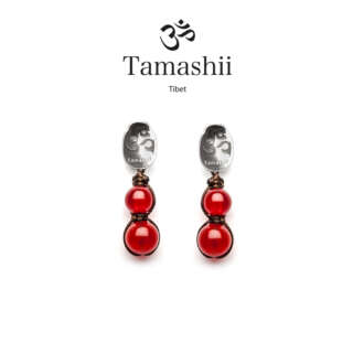 Orecchini Tamashii Argento con Agata Rosso Passione  EHST2-124      Gioielli Donna Gioielli San Valentino Orecchini Orecchini Pendenti Per Lei
