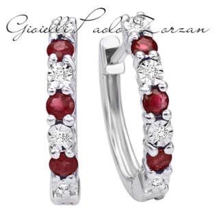 Orecchini schione Bliss in oro bianco rubini e diamanti 20073980    Gioielli Donna Orecchini Orecchini Schiona