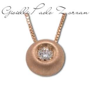 Collana Gemoro punto luce in oro rosa satinato e diamante TPB0015RS.05    Collane Collane Punto Luce Gioielli Donna