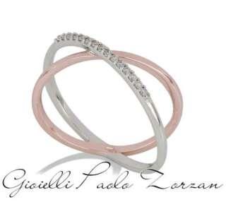 Anello Gemoro in oro bianco e rosa con diamanti AB1108BR   Anelli Gioielli Donna