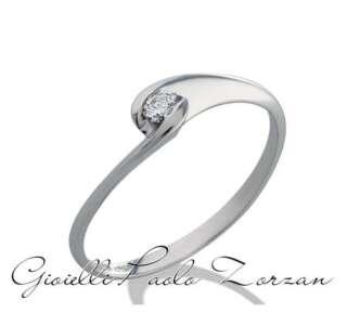 Anello Gemoro solitario in oro bianco e diamanti SS641BIA08    Anelli Anelli Solitario Gioielli Donna