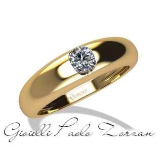 Anello Gemoro a scalare in oro giallo e diamante SS737GIA08    Anelli Anelli Solitario Gioielli Donna