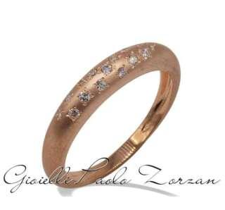 Anello Gemoro a scalare in oro rosa satinato e diamante AB1101RS    Anelli Anelli Solitario Gioielli Donna
