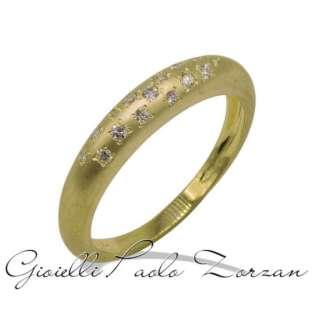 Anello Gemoro a scalare in oro giallo satinato e diamante AB1101GS    Anelli Anelli Solitario Gioielli Donna
