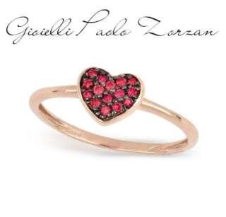 Anello Gemoro cuore in oro rosa e rubini AB1118ROS.R   Anelli Gioielli Donna