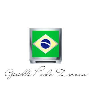 Elements di Donna Bandiera Brasile Oro Bianco e Smalto Cod: DCHF3464     Bracciali Elementi per Bracciali Gioielli Donna Simboli