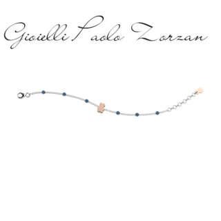 Bracciale Nanan  in argento e perline azzurre NAN0189      Bambini Bracciali Bracciali a Maglia Gioielli Donna Gioielli per bambini